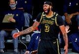 """Pergalingą metimą pataikęs A.Davisas ir """"Lakers"""" treneris kalbėjo apie """"Mamba"""" mentalitetą, L.Jamesas apgailestavo, kad tai įvyko ne """"Staples Center"""" arenoje"""