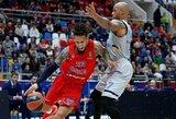 """CSKA Eurolygoje nepaliko šansų """"Khimki"""" krepšininkams"""