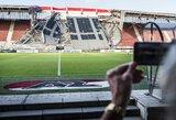 """Nelaimė Nyderlanduose: griuvo """"Alkmaar"""" ekipos stadionas, tačiau sužeidimų išvengta"""