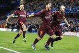 """Čempionų lyga: pirmą kartą karjeroje įvartį prieš """"Chelsea"""" pelnęs L.Messi išplėšė lygiąsias Londone"""