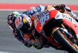 """Iš aštuntos vietos į pirmą: D.Pedrosa po beveik metų pertraukos laimėjo """"MotoGP"""" lenktynes"""