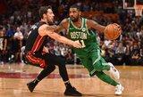 """K.Irvingas pratęsė """"Celtics"""" pergalių seriją"""