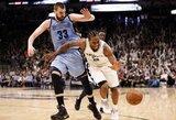 """Atkrintamųjų rekordą pagerinęs K.Leonardas vedė """"Spurs"""" į pergalę"""