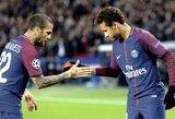 D.Alvesas atskleidė, ką pasakė kritikos strėlių pasaulio futbolo čempionate sulaukusiam Neymarui