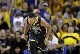 """Rungtynių metu S.Curry apsižodžiavo su nerungtyniaujančiu """"Cavaliers"""" krepšininku"""