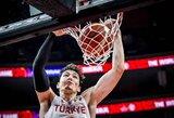 30 taškų per ketvirtą kėlinį pelnę turkai paskutinėmis sekundėmis palaužė Juodkalniją