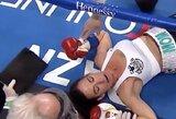 Vienas greičiausių nokautų bokso istorijoje: moterų kova truko vos 7sekundes
