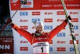 J.Boe laimėjo dar vienas pasaulio biatlono taurės lenktynes