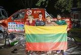 Prieš Dakaro finišą – Argentinos lietuvių dovanos ir linkėjimai A.Juknevičiui