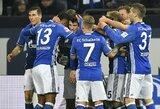 """""""Schalke"""" klubas džiaugėsi reta pergale, """"RB Leipzig"""" klubas pasivijo """"Bayern"""" komandą"""