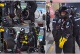 """Neįtikėtina: """"Mercedes"""" mechanikai sugadino lenktynes savo pilotams ir padovanojo pirmą karjeros pergalę S.Perezui"""