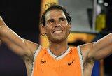 R.Nadalio lauks kylanti Australijos teniso žvaigždė, šeštoji pasaulio raketė netikėtai baigė savo pasirodymą