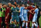 """Įtemptame """"amžinojo miesto"""" derbyje """"Roma"""" pranoko """"Lazio"""" klubą"""
