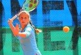 J.Mikulskytė baigė pasirodymą jaunių teniso turnyre Kroatijoje