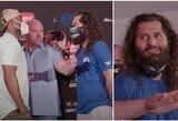 """""""UFC 251"""" užkulisiai: ką J.Masvidalis pasakė K.Usmanui akis į akį?"""