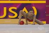 Lietuvės pradėjo pasaulio meninės gimnastikos čempionatą, E.Griškėnas pateko į finalą