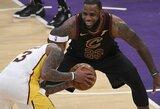"""""""Cavaliers"""" pražudė """"Lakers"""" puolėjo karjeros pasirodymas ir I.Thomasas"""