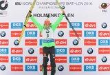 Nuostabiai šaudžiusi L.Dahlmeier tapo pasaulio biatlono čempione