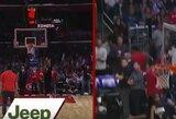 """Iš aikštės vidurio pataikęs """"Clippers"""" sirgalius laimėjo visureigį"""