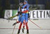 Komandinėse biatlono varžybose Vokietijoje triumfavo rusai