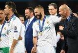 """Z.Zidane'as prisiminė praleistą laiką """"Real"""" ekipoje ir neslėpė susižavėjimo K.Benzema"""