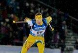 K.Dombrovskis pusę Europos biatlono čempionato bendro starto lenktynių distancijos laikėsi tarp lyderių