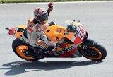 Trasos rekordą pagerinęs M.Marquezas pirmas pradės Vokietijos GP lenktynes