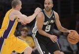 """K.Bryanto sugrįžimo laukianti """"Lakers"""" mačo pabaigoje nusileido """"Spurs"""" ekipai"""