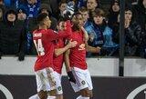 """Lėtas startas Europos lygos atkrentamosiose: """"Manchester United"""" sužaidė lygiosiomis Belgijoje"""