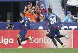 """Per septynias minutes tris įvarčius praleidusi """"Barcelona"""" krito prieš """"Levante"""""""