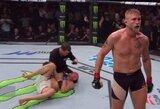 """UFC Fight Night 109"""" Stokholme: švedas iškovojo gražią pergalę nokautu ir narve pasipiršo savo merginai"""