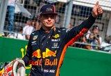 0.001 sek. rekordą pagerinęs M.Verstappenas laimėjo Meksikos GP kvalifikaciją, V.Bottas sudaužė bolidą