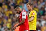 """Dviejų įvarčių persvaros neišsaugoję """"Arsenal"""" sužaidė lygiosiomis su juos smūgiais talžiusiais """"Premier"""" lygos autsaideriais"""