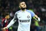 """Paskutinę perėjimų dieną """"Inter"""" pasiūlė išnuomoti M.Icardi į Paryžių"""