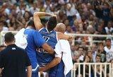 Graikijos rinktinės žaidėjui plyšo kelio raiščiai