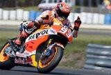 M.Marquezas laimėjo Australijos GP kvalifikaciją, V.Rossi startuos tik septintas