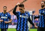 """Italijoje – L.Martinezo pelnytas """"hat-trickas"""" ir triuškinama """"Inter"""" pergalė"""