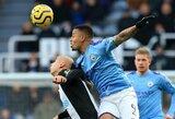 """88-ąją minutę įvartį praleidęs """"Man City"""" išleido pergalę prieš """"Newcastle Utd"""""""