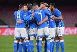 """Dviejų įvarčių pranašumą iššvaistęs """"Napoli"""" klubas susitvarkė su """"Udinese"""""""
