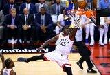 """NBA finalas prasidėjo """"Raptors"""" komandos pergale"""