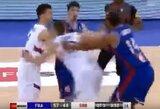 Draugiškų rungtynių metu susistumdė Serbijos ir Prancūzijos krepšininkai
