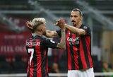 """Z.Ibrahimovičiaus dublis padėjo """"Milan"""" sugrįžti į """"Serie A"""" lygos viršūnę"""