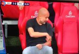 P.Guardiola prajuokino internautus: pradėjo bendrauti su tuščia kėde