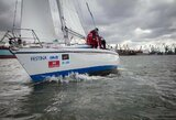 """Dėl sudėtingų jūrinių sąlygų iš antrojo etapo pasitraukusios jachtos """"Muzika"""" kapitonas: """"Toks vėjas mums būtų buvusi kova dėl išgyvenimo"""""""