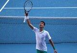"""N.Djokovičius vargo prieš F.Tiafoe, S.Wawrinka trečią kartą per pastaruosius keturis metus iš """"Australian Open"""" iškrenta jau antrame rate"""