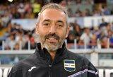 "Oficialu: ""Milan"" prisiviliojo ""Sampdoria"" trenerį M.Giampaolo"