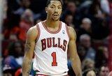 "D.Rose'o dvitaškis išplėšė pergalę ""Bulls"" klubui"