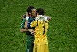"""G.Buffonas: """"Kas vyksta su I.Casillasu, yra ženklas man"""""""