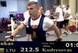 Pasaulio jaunių jėgos trikovės čempionate L.Kudrešovas ir T.Sutkus liko be medalių