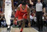 """Čikagoje – B.Simmonso ir """"Bulls"""" atsarginio karjeros pasirodymai bei puikus J.Embiido žaidimas"""